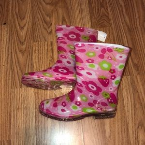 New Floral boots Pink Girls size 3